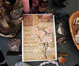 Rose Herbal Grimoire Page