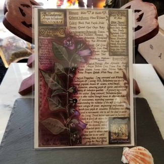 Belladonna Book of Shadows Page