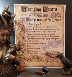 Cleansing Mantra Book of Shadows Page