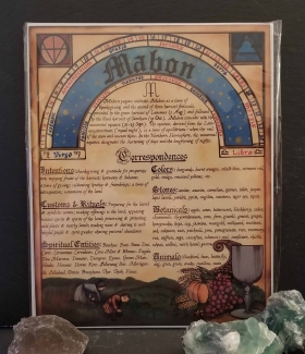 Mabon Book of Shadows page