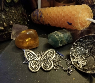 Celtic Butterfly Pendant with Chain