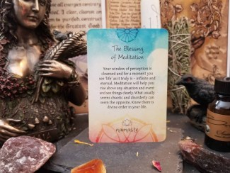 The Blessing of Meditation Card - Front